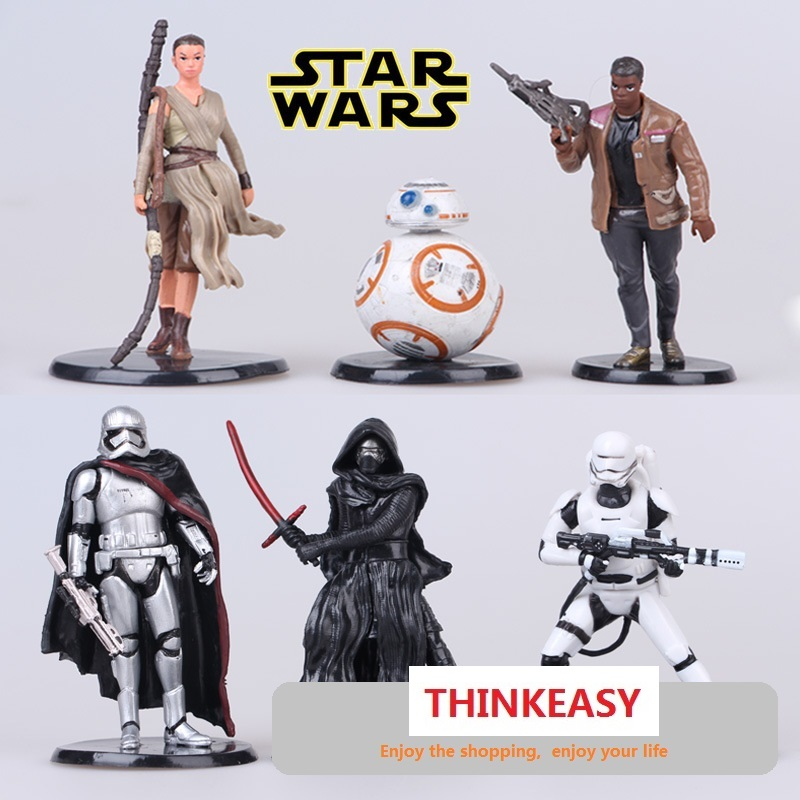 6 ADET/GRUP Star Wars Action Figure Siyah Şövalye Darth Vader Star Wars Stormtrooper Aksiyon Figürü Çocuklar Oyuncaklar Brinquedos Rakamlar